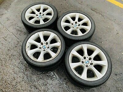 "BMW 5 6 SERIES E60 E63 18"" ALLOY WHEELS & TYRES 6775645 GENUINE 8Jx18EH2+ 04-10"