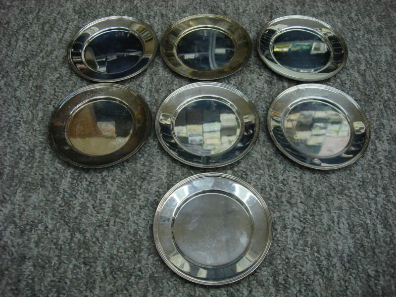 """GROUP OF 7 F.B. ROGERS. 6"""" SILVER PLATED PLATES NICE CONDITION"""