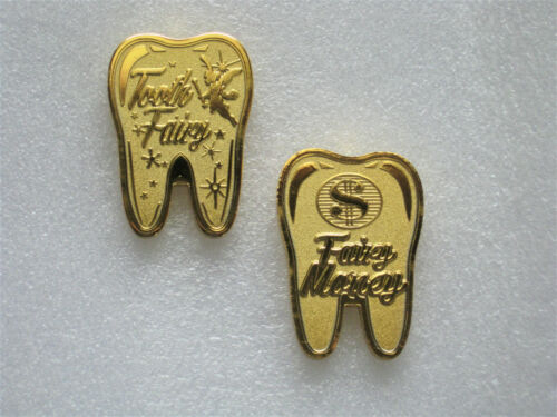 Gold Tooth Fairy Faires Coin Beads Jewlery Charm Pendants Necklace Crystals Fine
