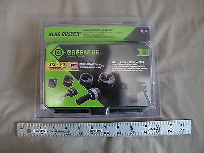 1 New Greenlee Slug Buster Manual Knockout Punch Set 7235bb 12 To 1-14 Usa
