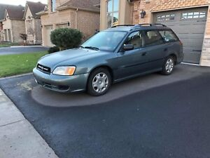 2002 Subaru Legacy L Wagon in Mint Green