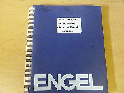 Engel Enjection Molding Machine Es25-4000 Maintenance Manual 11955