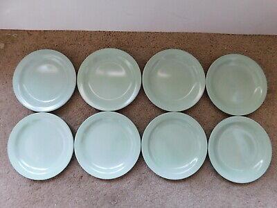 Vintage Lot of 8 Melamine Boontonware Light Green Dessert Plates 7