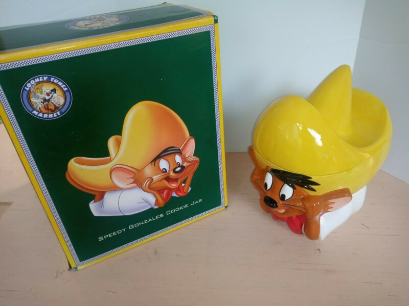 Speedy Gonzales Cookie Jar Looney Tunes Ceramic Warner Bros Vintage 1996 W/ box