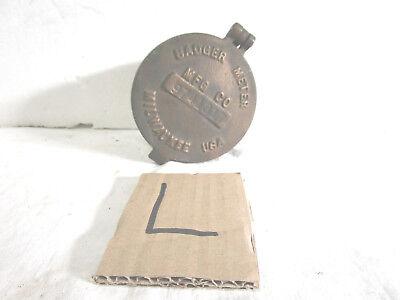 Vintage Badger Meter Mfg Co. Bronze Water Meter Housing Cover