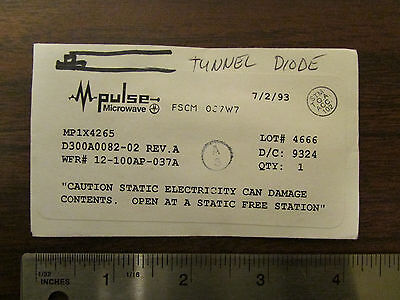 M-pulse Microwave Tunnel Diode Mp1x4265 Nos
