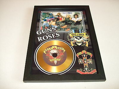 GUNS N ROSES   SIGNED FRAMED GOLD CD  DISC   55332