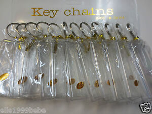Lot-of-12-pcs-Photo-Key-Chains-Fits-Photo-Size-1-75-x-2-75-Plastic-New