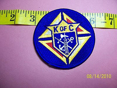 KNIGHTS OF COLUMBUS - Sword Anchor Cross Embroidered Patch 2""