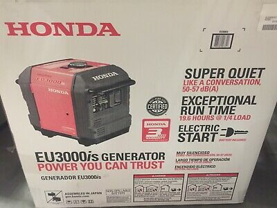 Honda 3000 Watt 30 Amp Gasoline Inverter Generator Brand New Read Description