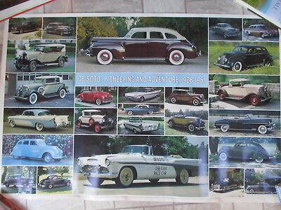 DE SOTO 1928-1961 CAR POSTER AUTOMOBILE QUARTERLY 1982
