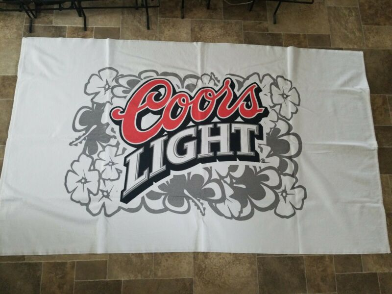 (L@@K) coors light Beer Advertising beach bar Towel man cave new in bag