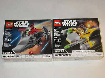 2 LOT Lego Star Wars 75224 Sith Infiltrator Microfighter Darth Maul 75223 Naboo