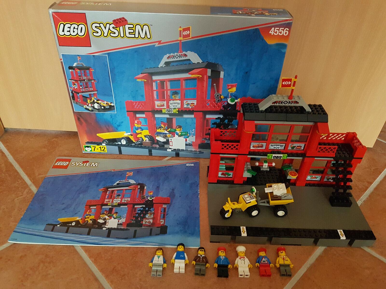 Lego City Eisenbahn roter Bahnhof und Restaurant 4556 mit OVP