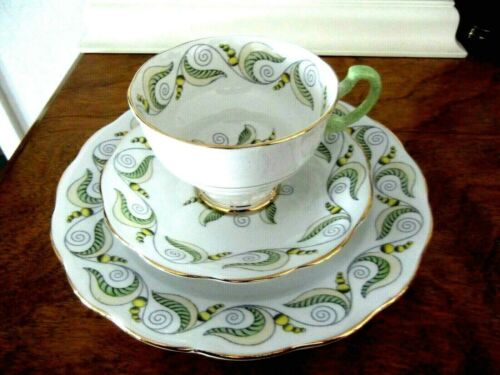 "ROYAL STANDARD BONE CHINA TRIO SET ` CUP & SAUCER WITH 8"" PLATE"