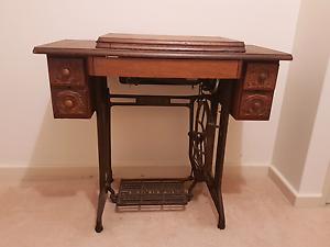 Vintage Antique Piece Singer 201k Treddle Sewing Machine Nollamara Stirling Area Preview