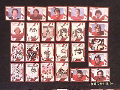 Lot of 25 1989 Collegiate Collection Alabama Crimson Tide Football Trading Cards