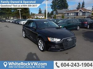 2016 Audi A3 2.0T Komfort Leather Upholstery, Heated Front Se...