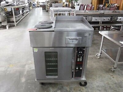 Wells Oc-2hg Electric Convection Oven 2-french Plates 18 Griddle Combo Range