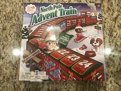 NEW - Elf On The Shelf North Pole Christmas Countdown Advent Calendar Train