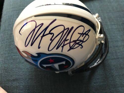 Tennessee Titans Marcus Mariota Autographed Signed Mini Helmet JSA COA #2
