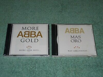 LOT OF 2 BRAND NEW FACTORY SEALED ABBA CD MORE ABBA GOLD & MAS ORO ( RARE )