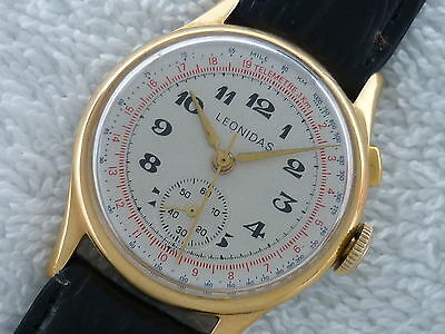ANONYMOUS LEONIDAS VENUS 196 VTG 1 PUSHER CHRONOGRAPH WATCH SWISS