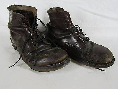 Pair well worn vintage men's ankle boots for reenactors