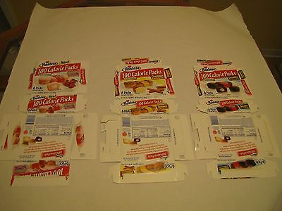 Hostess  Interstate Brands  100 Calorie Collectible Empty Boxes