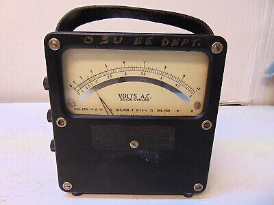 Weston A.c. Volt Meter Model 433 No. 83712 25-125 Cycles S5627