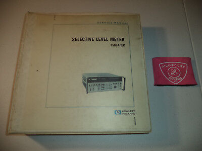 Hewlett Packard Hp 3586abc Selective Level Meter 03586-90001 Service Manual