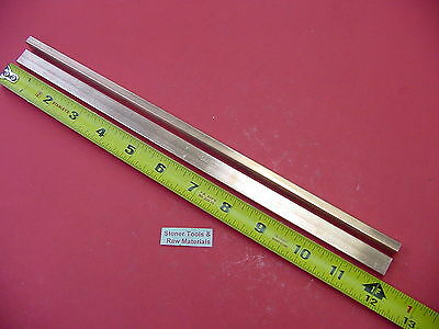 2 Pieces 14x 12 C110 Copper Bar 12 Long Solid Flat .25 Bus Bar Stock H02