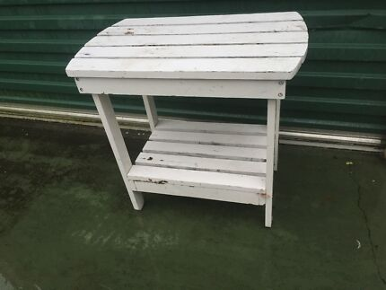 TABLE TIMBER WHITE