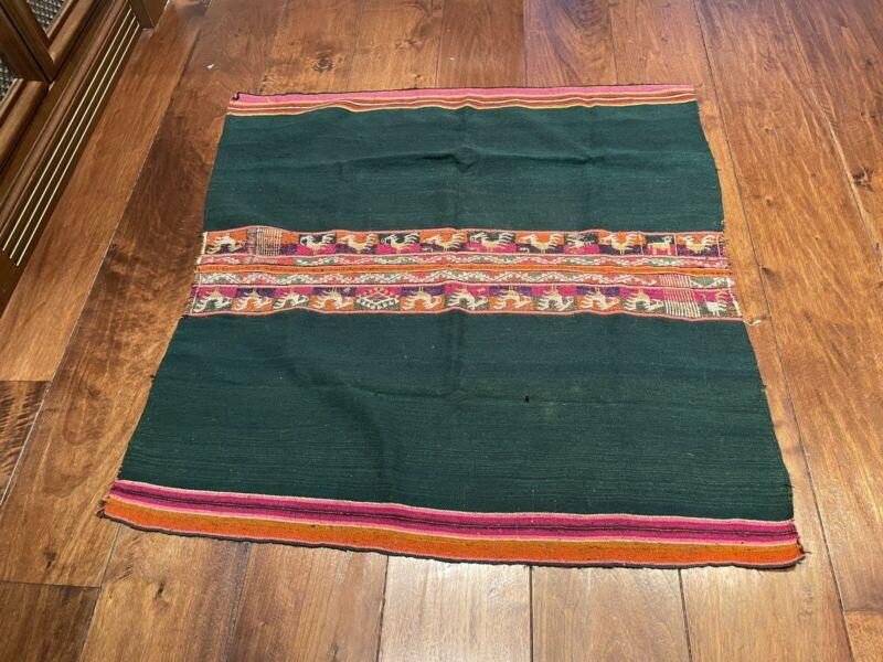 Vintage Peruvian Andean Mountain Textile - Hand Weaved Aguayo / Manta