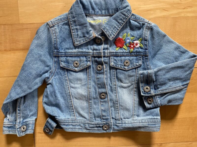 Squeeze Girl Denim Floral Long Sleeve Jacket Size 3T