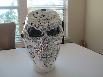 Skull Mask Party Theme Concert Halloween Scary Silver Skeleton Style Free Ship](Halloween Scary Themes)