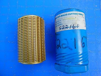 Pfauter - Maag Tin Coated Gear Hobber- Bore - 1 14 Length 4 New