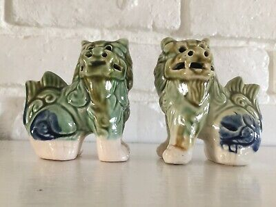 Foo Dogs Small Green & Blue