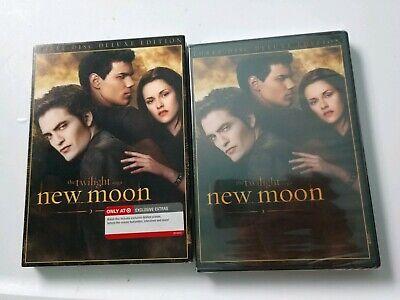 Twilight Saga New Moon 3 Disc Deluxe DVD Target Bonus Extras NEW Sealed Three