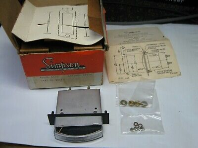 Vintage Nos Simpson M1622 0-150 Vdc Volts Dc Edgewise Edge-view Panel Meter