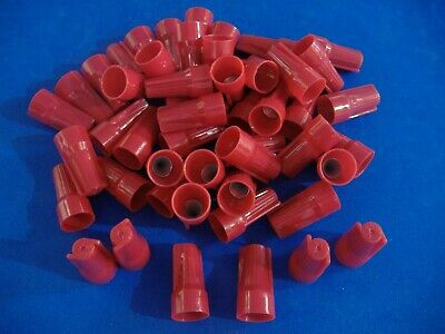 Lot Of 50 Red Easy-cap Wire Connector Conical Nut Nuts