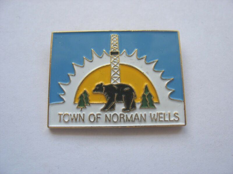 NORTHWEST TERRITORIES TOWN LAPEL PIN - NORMAN WELLS