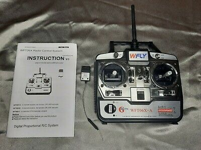 WFLY WFT06X-A 6-channel 2.4 GHz Transmitter With 6 Channel WFR06S Reciever