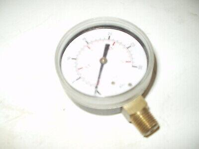 2-12 Utility Pressure Gauge - Blk.steel 14 Npt Lower Mnt. 0-30psi