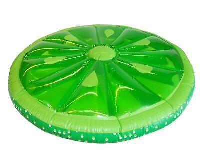 Jumbo Limettenscheibe aufblasbar 156x156x26 cm Pool Spaß XXL Luftmatratze