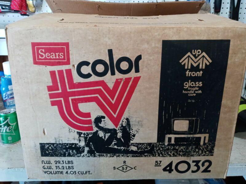 Vintage Sears Color TV 562.40320800 In original packaging never opened