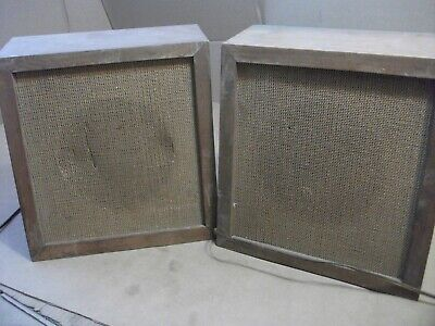 Set/pair 2 Vintage Michigan Electro Voice EV MC-8 Speakers Two Way Loud Speaker+