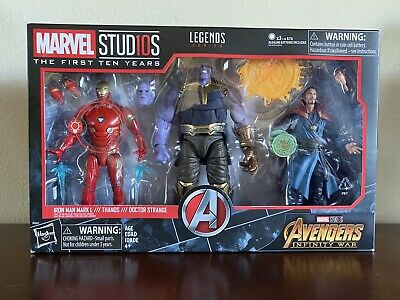 Avengers Infinity War Thanos Iron Man Doctor Strange MCU 3-Pack Marvel Legends