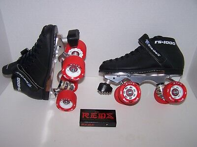 NEW RIEDELL 125 CUSTOM LEATHER ROLLER SKATES MENS SIZE 5 (LADIES 6)