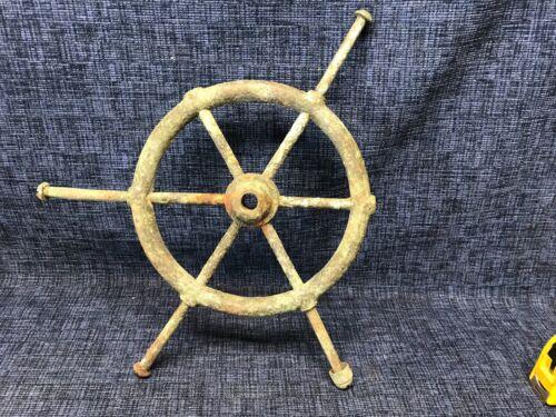 "Antique Brass Ships Wheel 15"""